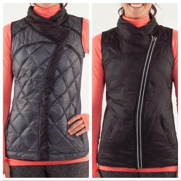 LULULEMON What The Fluff Reversible Vest, Black, 8